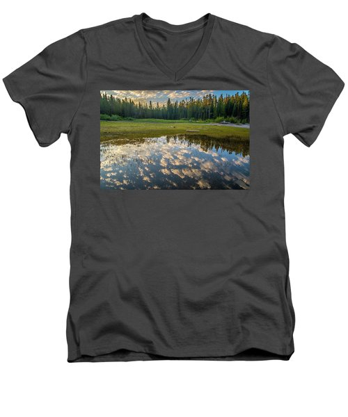 Colter Bay Reflections Men's V-Neck T-Shirt