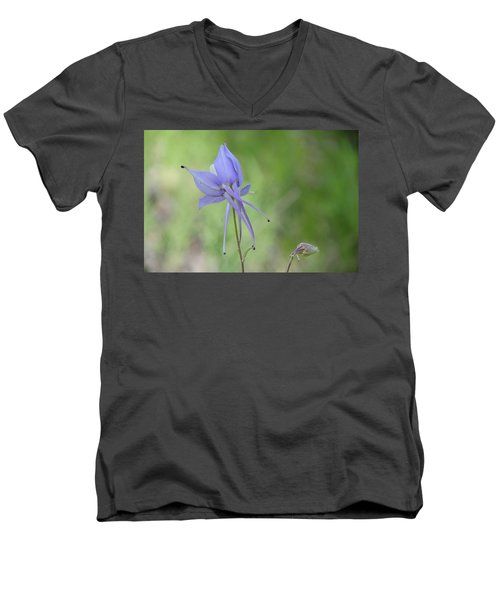 Columbine Details Men's V-Neck T-Shirt