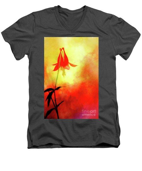 Columbine Sunset Men's V-Neck T-Shirt