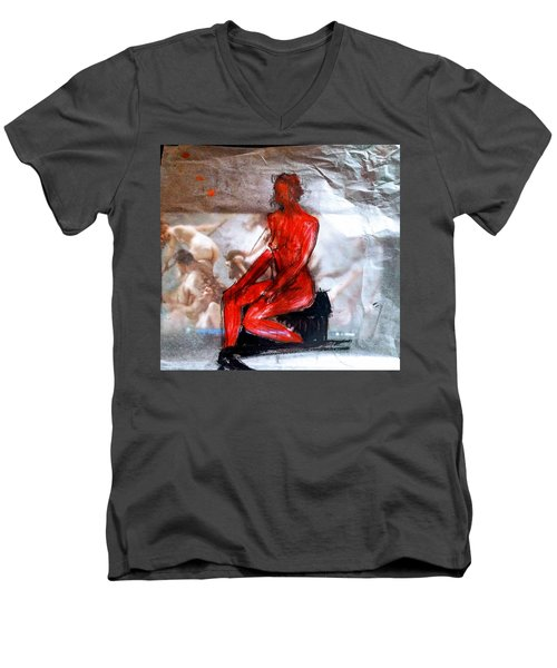 Coming From The Treaure  Men's V-Neck T-Shirt