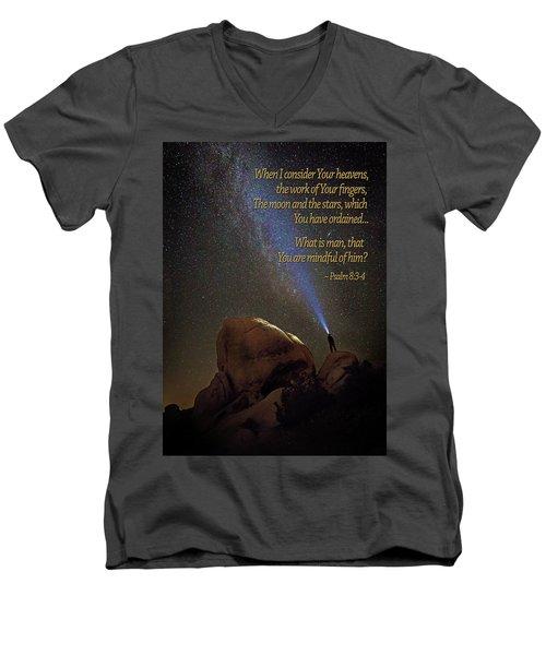 Consider The Heavens Men's V-Neck T-Shirt