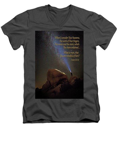 Consider The Heavens Men's V-Neck T-Shirt