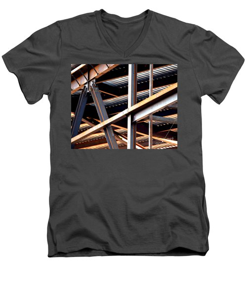 Construction Abstract Fragments Men's V-Neck T-Shirt