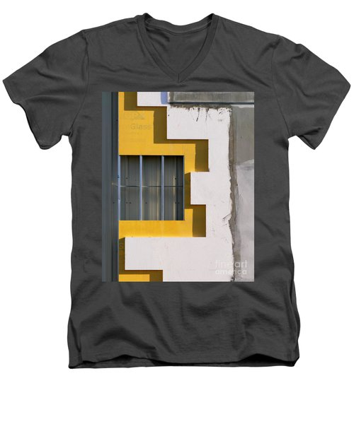 Construction Abstract Men's V-Neck T-Shirt