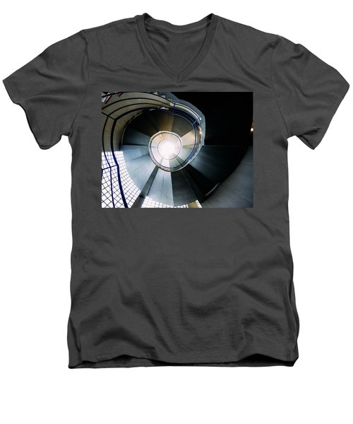Convoluted Staircase  Men's V-Neck T-Shirt