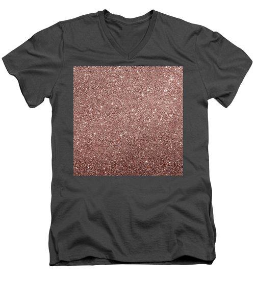 Cooper Glitter Men's V-Neck T-Shirt
