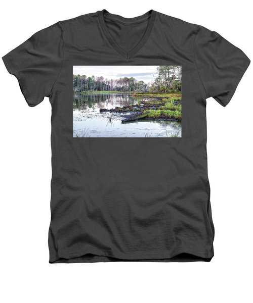 Coosaw - Early Morning Rice Field Men's V-Neck T-Shirt