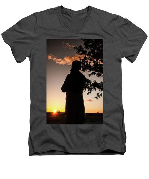 Corby At Sunset Men's V-Neck T-Shirt