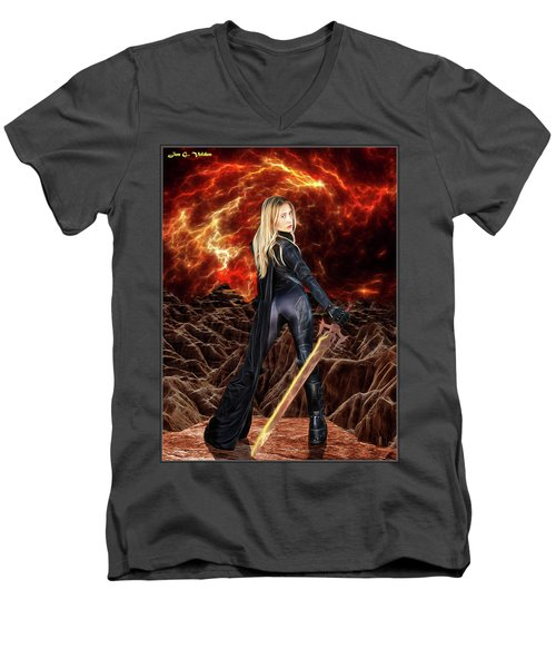 Cosmic Destroyer Men's V-Neck T-Shirt