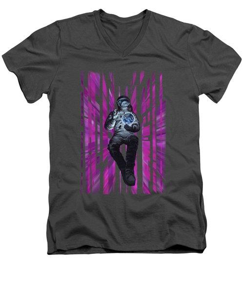 Cosmonault Men's V-Neck T-Shirt