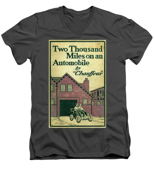 Cover Design For Two Thousand Miles On An Automobile Men's V-Neck T-Shirt