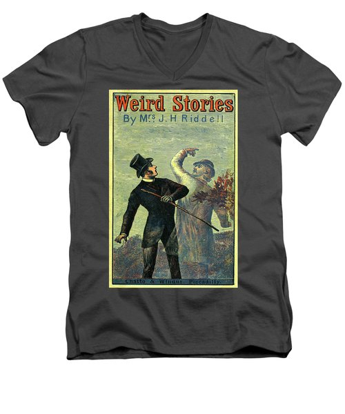 Victorian Yellowback Cover For Weird Stories Men's V-Neck T-Shirt