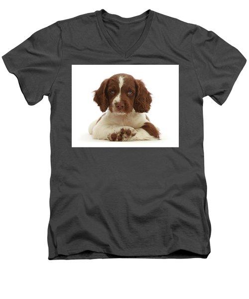 Cross Paws Men's V-Neck T-Shirt