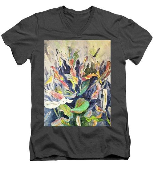 Croton Plant Men's V-Neck T-Shirt
