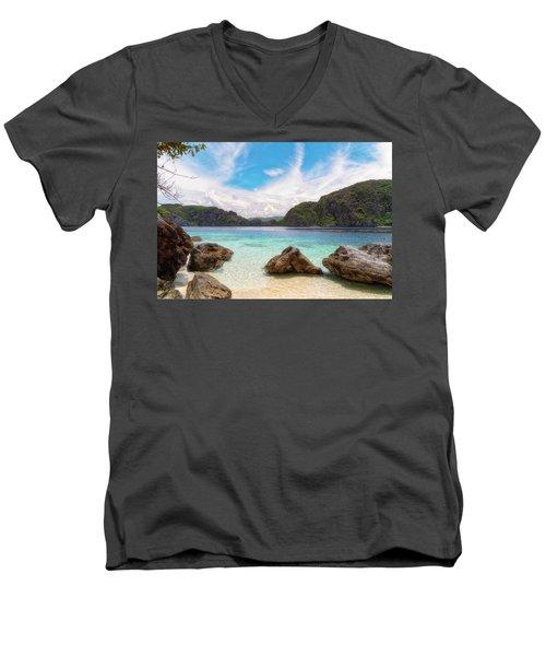 Crystal Clear Men's V-Neck T-Shirt
