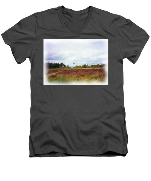Culloden Battlefield Painting Men's V-Neck T-Shirt