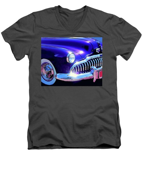 Custom 1949 Purple Buick Men's V-Neck T-Shirt