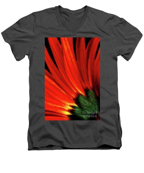 Daisy Aflame Men's V-Neck T-Shirt
