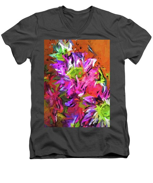 Daisy Rhapsody In Purple And Pink Men's V-Neck T-Shirt