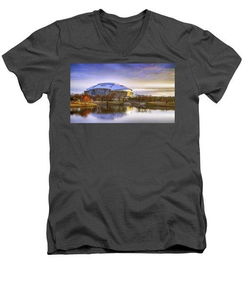 Dallas Cowboys Stadium Arlington Texas Men's V-Neck T-Shirt