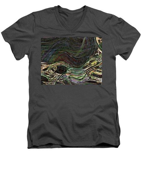 Dark Rainbow Men's V-Neck T-Shirt