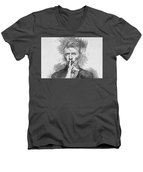 David Bowie. Men's V-Neck T-Shirt