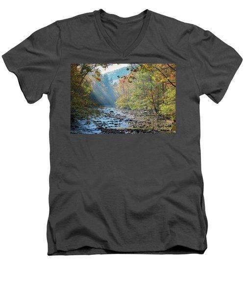 Dawn At Metcalf Bottoms Men's V-Neck T-Shirt
