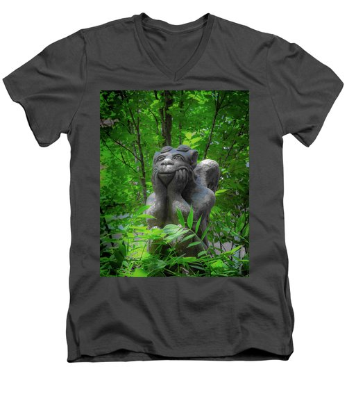 Daydreaming Gargoyle Men's V-Neck T-Shirt
