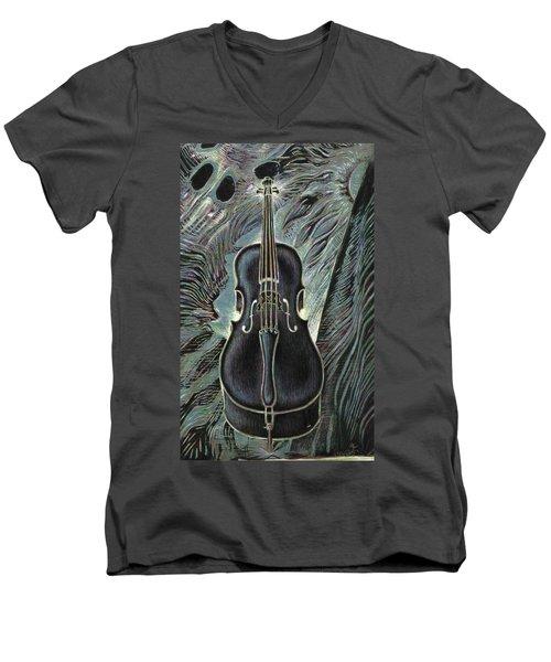Deep Cello Men's V-Neck T-Shirt