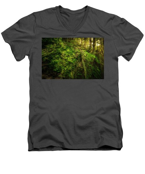 Men's V-Neck T-Shirt featuring the photograph Deep In The Forests Of Bavaria by David Morefield