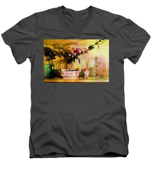 Delicate Flowers Men's V-Neck T-Shirt