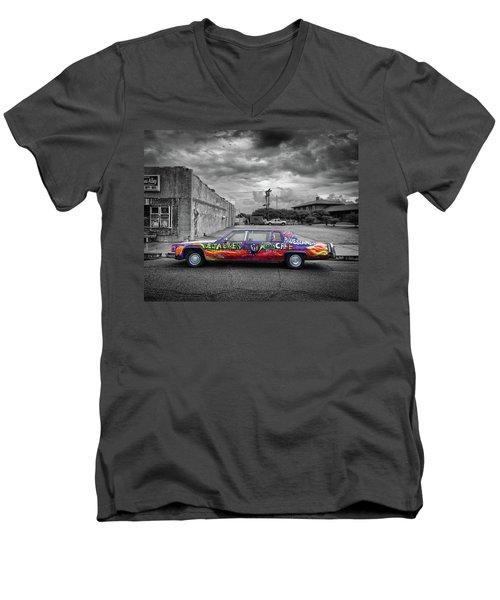 Delta Blues Limo Men's V-Neck T-Shirt