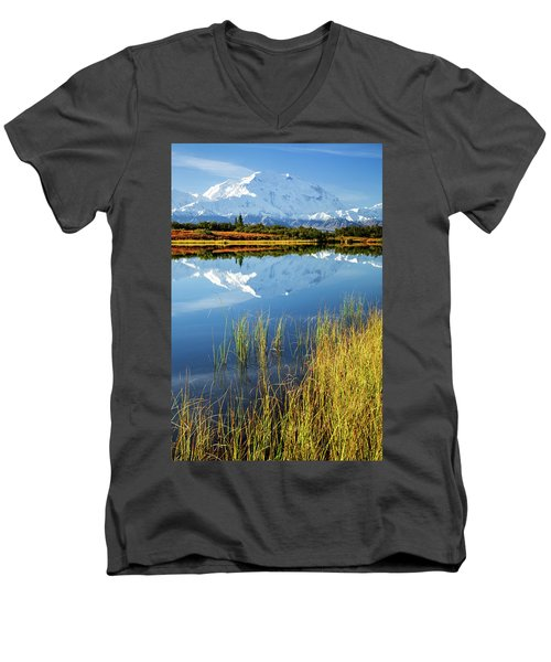 Denali Reflection Men's V-Neck T-Shirt