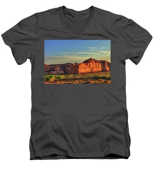 Desert Sunrise In Color Men's V-Neck T-Shirt