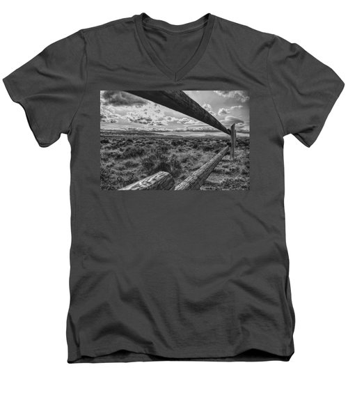Devil's Gate Fence Men's V-Neck T-Shirt