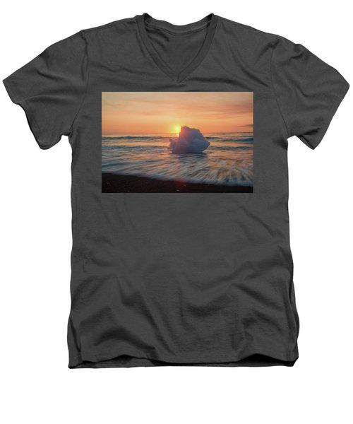 Diamond Beach Sunrise Iceland Men's V-Neck T-Shirt