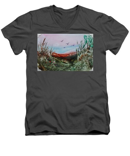 Disappearing Pathway Men's V-Neck T-Shirt