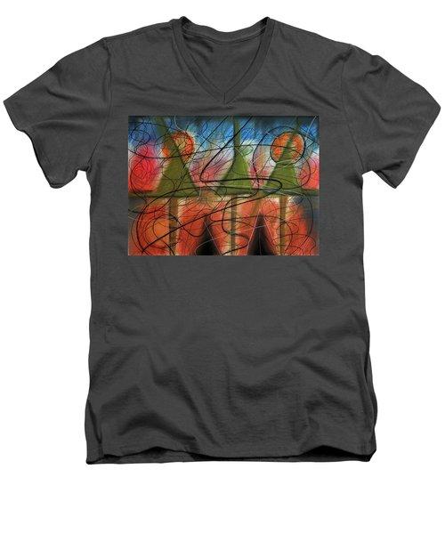 Disturbance At Lake Men's V-Neck T-Shirt