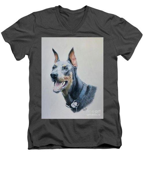 Doberman Men's V-Neck T-Shirt
