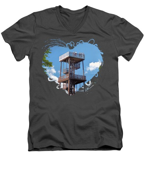 Door County Eagle Tower Peninsula State Park Men's V-Neck T-Shirt
