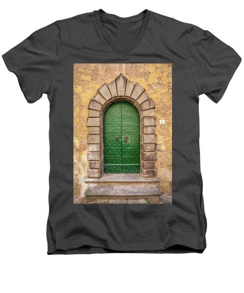 Door Six Of Cortona Men's V-Neck T-Shirt