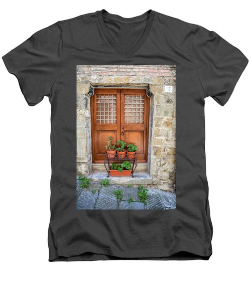 Door Thirteen Of Tuscany Men's V-Neck T-Shirt