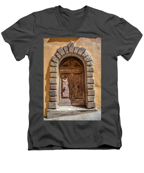 Door Thirty Two Of Tuscany Men's V-Neck T-Shirt