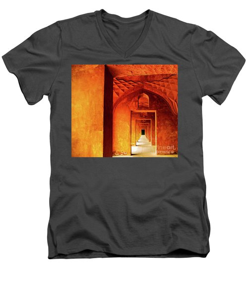 Doors Of India - Taj Mahal Men's V-Neck T-Shirt