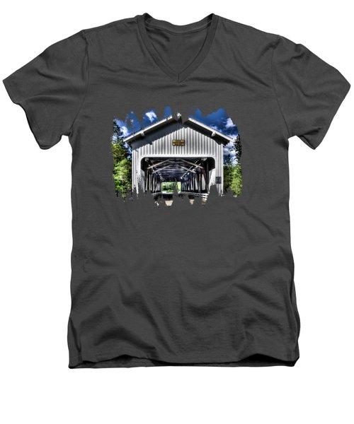 Dorena Covered Bridge 1949 Men's V-Neck T-Shirt