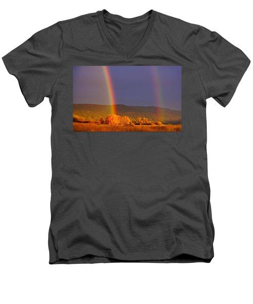 Double Gold Men's V-Neck T-Shirt