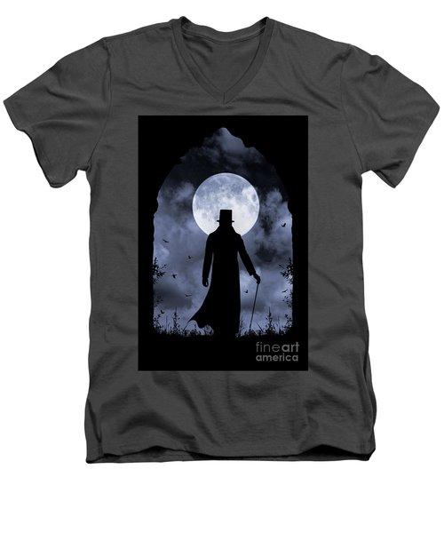 Dracula Returns Men's V-Neck T-Shirt