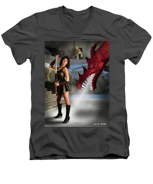 Dragon Breath Men's V-Neck T-Shirt