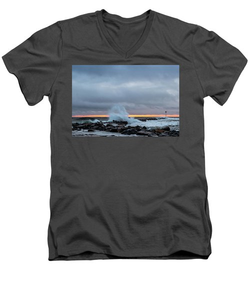 Dramatic Beginnings. Men's V-Neck T-Shirt