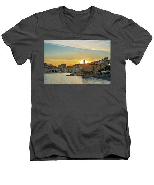 Dubrovnik Old Town At Sunset Men's V-Neck T-Shirt